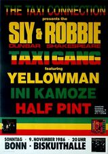 TAXI CONNECTION - 1986 - Konzertplakat - Sly & Robbie - Ini Kamoze - Yellowman