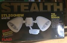 RAB Lighting STL200HW Stealth 200 Sensor with Twin Precision Die Cast H101 Delux