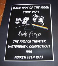 PINK FLOYD Concert Poster The Palace Theater CT USA 1973 A3 Size repro