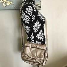 KIPLING FAIRFAX CROSSBODY SHOULDER BAG METALLIC GOLD/BEIGE