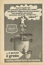X4978 Pentola a pressione VALCO - Pubblicità 1973 - Advertising