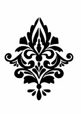 High Detail Damask Airbrush Stencil - Free UK Postage