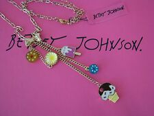 BETSEY JOHNSON CANDYLAND ICE CREAM CONE~POPSICLE~CANDY CHARM NECKLACE~RARE