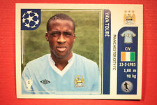 PANINI CHAMPIONS LEAGUE 2011/12 N 46 YAYA TOURè MAN. CITY WITH BLACK BACK MINT!!
