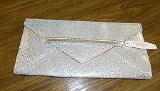 Victoria's Secret ~SILVER CLUTCH~ GLITTER ENVELOPE Purse NWT!