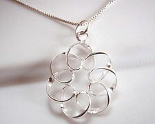 Curls and Spirals Pendant 925 Sterling Silver Corona Sun Jewelry