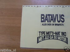 B0604 BATAVUS---TECHNICAL INFO MOPED---MOTO'MAT MET JLO GA50-1 VERSN.-MODEL