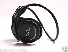 Black Sports Hi-Fi Light Bluetooth 4.0 Headphones for CellPhone Laptop PC Tablet