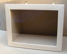 1:12 Dolls House Miniature Display Madeup Natural Finish Medium Room Shadow Box