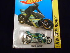 HOT WHEELS 2014 HW OFF-ROAD #126/250 CANYON CARVER MOTORCYCLE HOTWHEELS GREEN