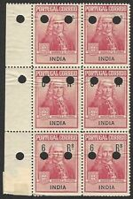 Portuguese India #RA1 1925 Pombal Postal Tax Printer's proof block of 6