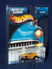Hot Wheels 2002 Wal-Mart Exclusive Motor City Classics Series '33 Ford Yellow oc