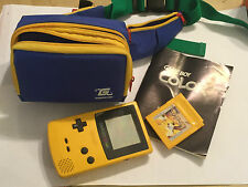 NINTENDO GAME BOY COLOR GBC ngbc Consola + POKEMON Amarillo Versión Juego Carro + Bolsa