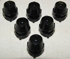 LEGO LOT OF 6 NEW BLACK CASTLE KNIGHT HELMETS WITH SLIT