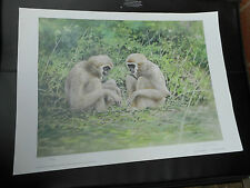 JOEL KIRK LARGE LIMITED EDITION PRINT MONKEYS VGC LOW POST