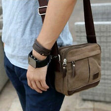 Men Street Style Vintage Canvas Shoulder Bag Purse Crossbody Casual Small Bags