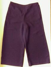 EXPRESS Black Gaucho Pants Size 0 Wide Leg Cropped Palazzo Flat Front Career