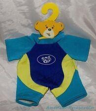 Retired 2011 BUILD A BEAR Bright Aqua Blue Color Block WETSUIT Scuba Diving Suit