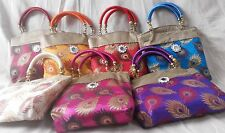 5 pc Women Handgab Tote Bags Indian Hadmade Wholesale Lot Vibrant Colors Purses