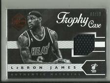 LEBRON JAMES 2015-16 PANINI LIMITED TROPHY CASE JERSEY #10 /99