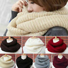 Unisex Men Women Knit Winter Warm Cowl Neck Warmer 2 Circle Scarf Shawl Wrap Hot