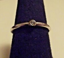 """Pandora """"Morning Star"""" Two-Tone Stackable Sterling 14K Gold Diamond Ring 6-1/2"""