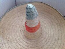 Large Sombrero Sun Hat Tijuana Mexico Orange Green Natural Ramsgate Fancy Dress