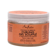 Shea Moisture Coconut & Hibiscus Curling Gel Souffle Thick Curly Hair 12 oz