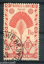 MADAGASCAR 1943, timbre 272, RAVENALA, SERIE de LONDRES, oblitéré