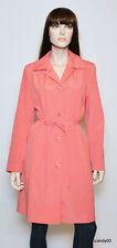 Nwt GALLERY Trench Rain Coat Jacket Top Anorak Waterproof Washable ~Pink/Dot *M