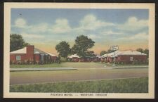 Postcard MEDFORD Oregon/OR  Pulver's Motel Motor Court view 1930's