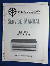KENWOOD KT-413 KT-4133 TUNER SERVICE MANUAL ORIGINAL FACTORY ISSUE  V1