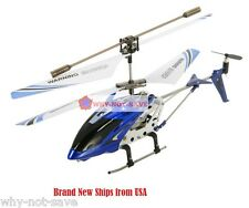Blue Remote Controlled toy Helicopter RC 4 Channel 4ch with Gyro RTF Syma Gyro