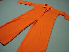 Inmate Jail Prisoner Costume Convict  Orange Prison Longsleeve Jumpsuit XL