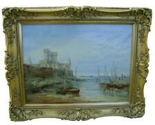 A Great 19th century Oil Painting 1863 of Peel Castle Isle of Man