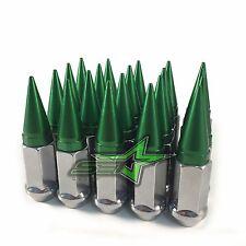 20 CHROME / GREEN SPIKED LUG NUTS 12X1.25   FOR: INFINITI G35 G37 Q50 Q60 Q70