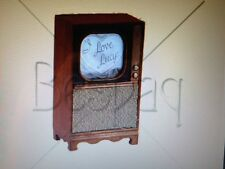 "DOLLHOUSE MINIATURE ""I Love Lucy"" Television Set TV - BESPAQ Adult Collectible"