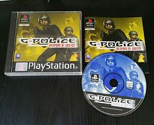 jeu playstation ps1 G-POLICE weapons of justice  complet TBE notice  pal