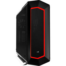 Aerocool P7C1 White Mid Tower 8 Colour LED & PWM, Tempered Glass Panel USB 3.0x2