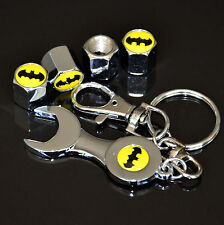 Car Superhero Batman Tire Wheel Stem Air Valve Stem Dust Cover Wrench Key Chain