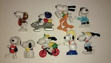 Peanuts Snoopy Vintage 80s 90s Figure Lot of 9 Smurf Sized PVC Figures