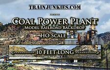 "TrainJunkies ""Coal Power Plant"" HO Scale Backdrop  120""X18"" C-10 Brand New"