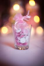 120 PERSONALIZED Glass Wedding Favor 1.5oz Shot Glasses Romantic Wedding Favors