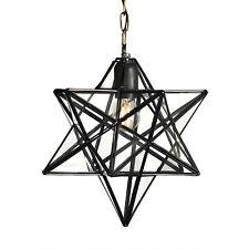 Pentagram Star Glass Ceiling Lantern Pendant Light Fitting Lamp Shade Fixture