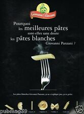 Publicité advertising 2003 Les Pates Giovanni Panzani