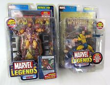 Marvel Legends Iron Man Series 8 + Wolverine Series 3 Unmasked LOT of Two 2