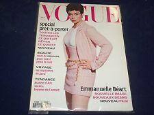 1994 FEBRUARY VOGUE PARIS MAGAZINE - EMMANUELLE BEART - FRENCH FASHION - O 5476