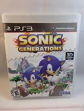 SONIC GENERATIONS --- PLAYSTATION 3 PS3 Complete CIB w/ Box, Manual - Tested