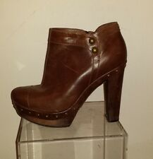 UGS Brown Leather Ankle Boots, size 9.5