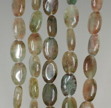 12X8MM  AVENTURINE GEMSTONE GREEN BROWN GRADE B  OVAL LOOSE BEADS 16""